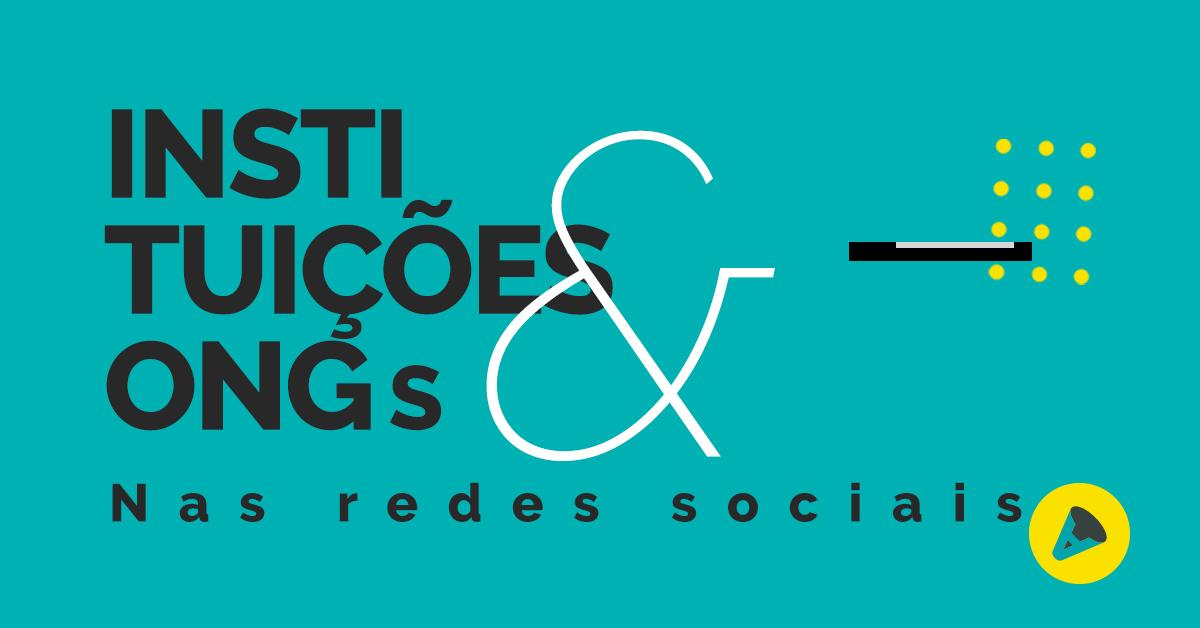 Na imagem, a capa para instituições e ongs nas redes sociais