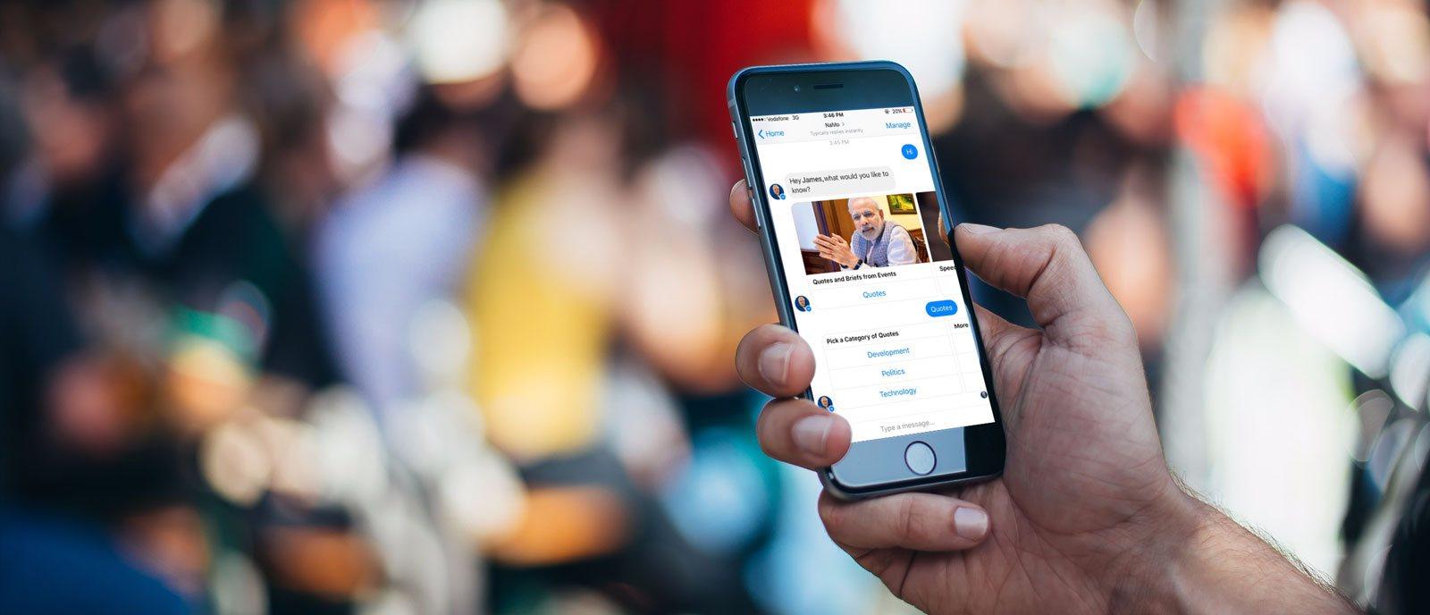 Na imagem, uma pessoa está conversando pelo Facebook Messenger.