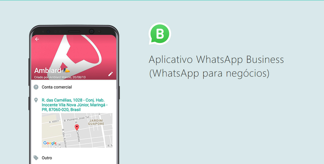 Na imagem, o Whatsapp Business da Amblard.