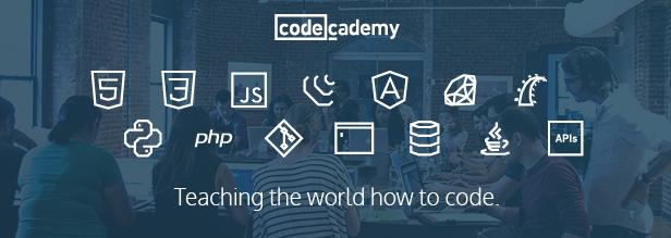 Na imagem, a Code Academy, com cursos grátis para aprender programação.