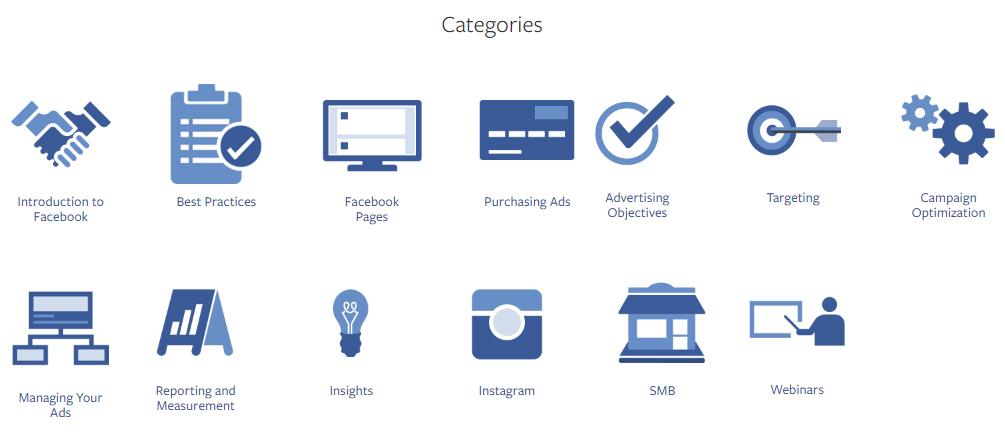Na imagem, o Facebook Blueprint, com cursos grátis para Facebook, Instagram e Messenger.