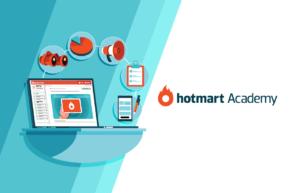 Na imagem, a Hotmart Academy, que tem cursos grátis em produtos digitais e estratégias de vendas.