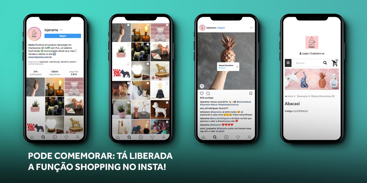 Shopping no Instagram: aprenda a nova função e como configurar!