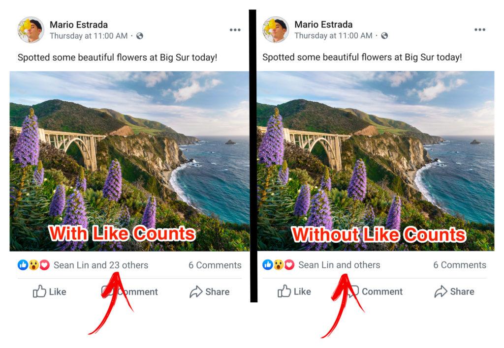 Facebook sem likes - curtidas ocultas